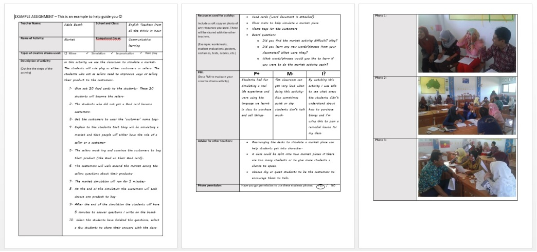 Teacher Assignment Example